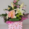 A25 £25 gift bag arrangement in flower foam