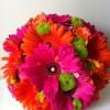 Vibrant gerbera Bride's handtied bouquet