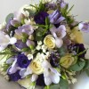 English garden Bride's bouquet with scented summer flowers and herbs